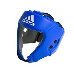 Боксерский шлем Adidas с лицензией AIBA для соревнований (AIBAH1, синий)