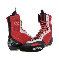 Боксерки Green Hill обувь для бокса (BS-0001, красные)