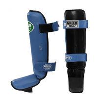 Защита голени и стопы Green Hill Guard кожзам (SIG-0012, синяя)