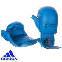 Перчатки для карате Adidas с лицензией WKF с защитой большого пальца (661.23, синие)