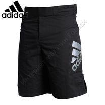 Шорты Adidas для MMA (ADICSS52, черные с серебром)