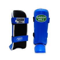 Защита голени и стопы Green Hill Somo кожа (SIS-0018, синяя)