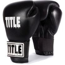 Боксерские перчатки TITLE Eternal Pro кожа (TETGV, черные)