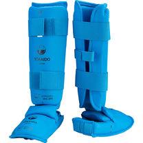 Защита голени и стопы TOKAIDO с лицензией WKF (Pro-3E-WKF, синяя)