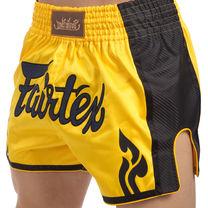 Шорты для тайского бокса и кикбоксинга FAIRTEX (BS1701, желтый)