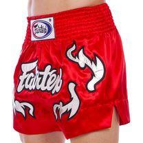 Шорты для тайского бокса и кикбоксинга FAIRTEX (BS0665, красный)