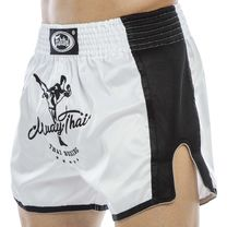 Шорты для тайского бокса и кикбоксинга FAIRTEX (BS1707, белый)