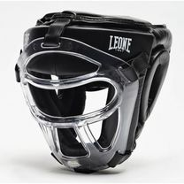 Боксерский шлем Leone Plastic Pad Black (500123, Черный)