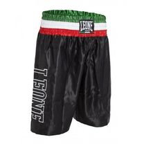 Шорты боксерские Leone Italy (500101, черно-зеленые)