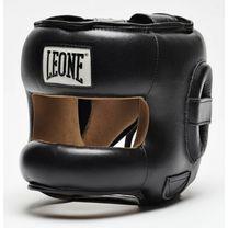 Боксерский шлем с бампером Leone Protection (500050, Черный)