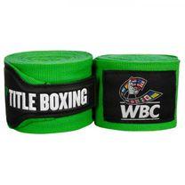 Бинты боксерские эластичные TITLE Boxing WBC (Title-WBCHW-GN,  Зеленые)