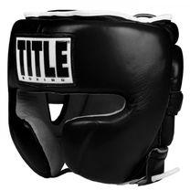 Боксерский шлем TITLE Boxing Leather Sparring (Title-FTHG-BK, Черный)