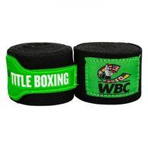 Бинты боксерские эластичные TITLE Boxing WBC (Title-WBCHW-BK,  Зеленые)