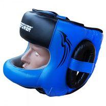 Боксерский шлем с бампером FirePower (FPHG6, Черный/Синий)