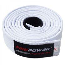 Пояс для Бразильского Джиу-Джитсу FirePower Premium (fp-premium-bjj-belt-w, Белый)