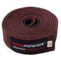 Пояс для Бразильского Джиу-Джитсу FirePower Premium (fp-premium-bjj-belt-bn, Коричневый)
