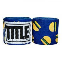 Бинты боксерские эластичные TITLE Boxing Mexican (Title-SMHWP-XL-HB,  Синие)