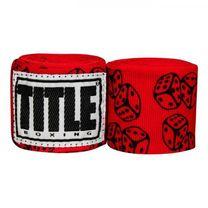 Бинты боксерские эластичные TITLE Boxing Mexican (Title-SMHWP-XL-DI,  Красные)