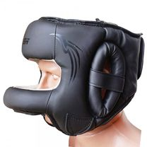 Боксерский шлем с бампером FirePower (FPHGA7-BK-ED, Черный)