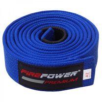 Пояс для Бразильского Джиу-Джитсу FirePower Premium (fp-premium-bjj-belt-bl, Синий)