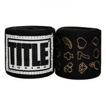 Бинты боксерские эластичные TITLE Boxing Mexican (Title-SMHWP-XL-SM,  Черные)