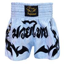 Шорты для тайского бокса Thai Professional (TPS6, бело-черные)