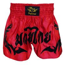 Шорты для тайского бокса Thai Professional (TPS9, красно-черные)