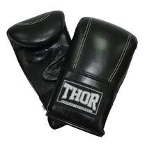 Снарядные перчатки THOR 605 из кожзама (605-PU-BLK, Черный)