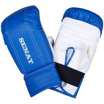Перчатки снарядные кожзам Сине-белый SENAT