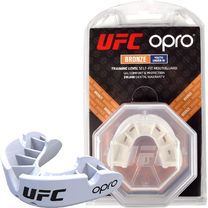 Капа OPRO Junior Bronze UFC Hologram White (002264002)