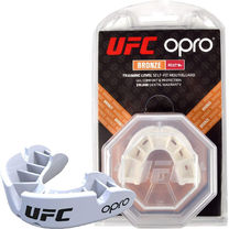 Капа OPRO Bronze UFC Hologram White (002258002)