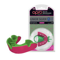 Капа OPRO Junior Silver (Pink/Fl.Green, 002190004)