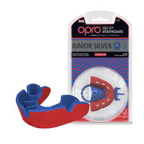 Капа OPRO Junior Silver (Red/Blue, 002190005)