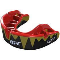 Капа OPRO Platinum UFC Hologram Fangz-Black (Metal/Red, 002261002)