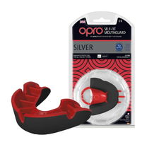 Капа OPRO Silver (Black/Red, 002189001)