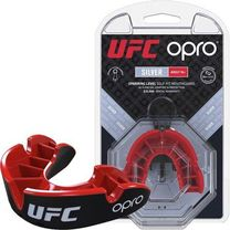 Капа OPRO Silver UFC Hologram (Black/Red, 002259002)