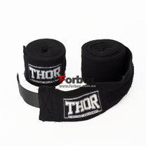 Бинты боксерские хлопковые THOR (1558 BLK, Черный)