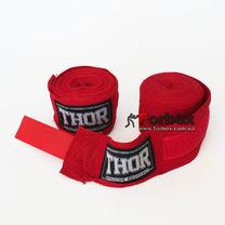 Бинты боксерские хлопковые THOR (1558 RD, красный)