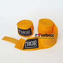 Бинти боксерські бавовняні THOR (1558-YELLOW, Жовтий)