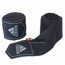 Боксерские бинты Adidas эластичные (ADIBP031, черные)