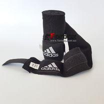 Боксерські бинти Adidas еластичні (ADIBP031, чорні)
