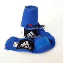 Боксерские бинты Adidas эластичные (ADIBP031, синие)