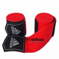 Боксерские бинты Adidas эластичные (ADIBP031, красные)