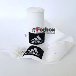 Боксерские бинты Adidas эластичные (ADIBP031, белые)