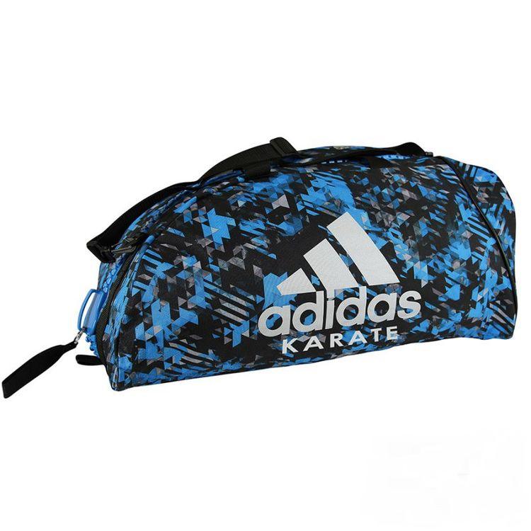 9cb79bc0ec7f Спортивная сумка трансформер Adidas синий камуфляж с белым логотипом Karate  62см*31см*31см (