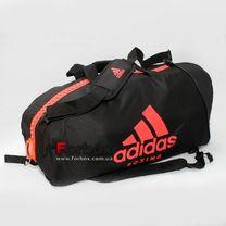 Сумка спортивная трансформер (сумка-рюкзак) Adidas с логотипом BOXING 62см*31см*31см (adiACC052B-BKRD, черно-красный)