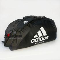 Сумка спортивна трансформер (сумка-рюкзак) Adidas з логотипом BOXING 62см * 31см * 31см (adiACC052B-BKWH-M, чорно-білий)