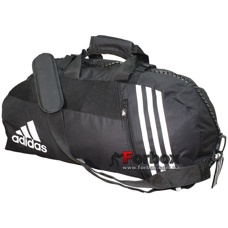 681c36dc884e Сумка спортивная трансформер с логотипом Дзюдо Adidas (adiACC050, черная)