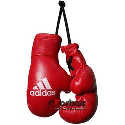 Сувенирные боксерские перчатки Adidas на шнурках 9.5см (adibpc02, красные)