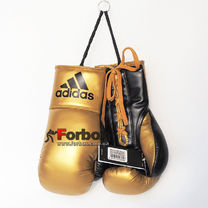 Сувенірні боксерські рукавички Adidas на 10 унцій (ADIBGG02, чорно-золоті)